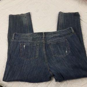 torrid Jeans - Torrid Distressed Embellished Boyfriend Jeans